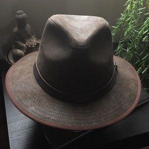 Accessories - Koringal brown leather Panama hat